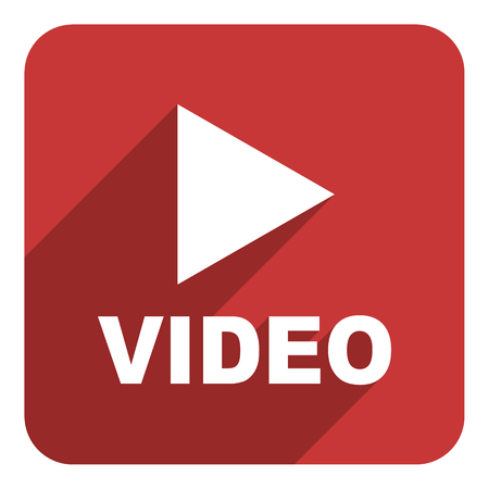 video flat icon photo