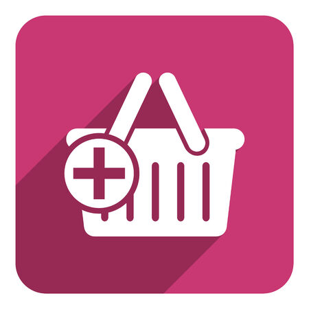 shop cart flat icon photo