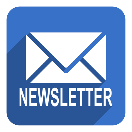 newsletter flat icon photo