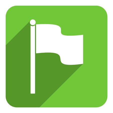 flag flat icon photo