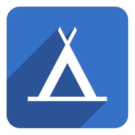 tent flat icon photo