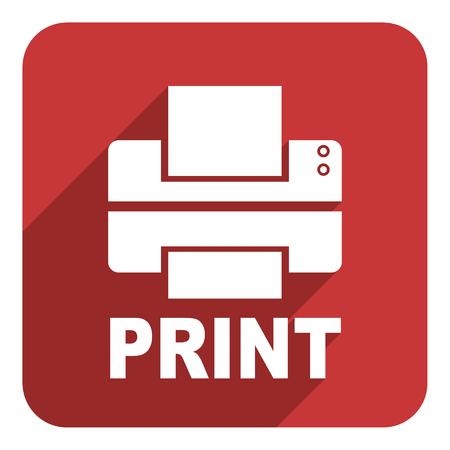 print flat icon photo