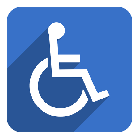 wheelchair flat icon photo