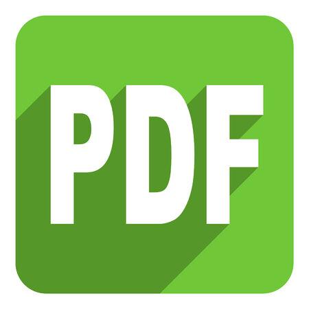 bibliography: pdf flat icon