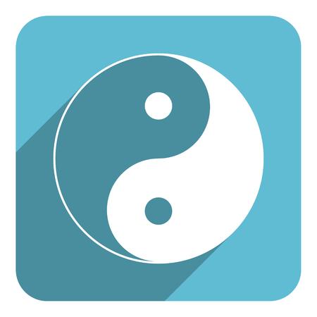 yang ying: ying yang flat icon