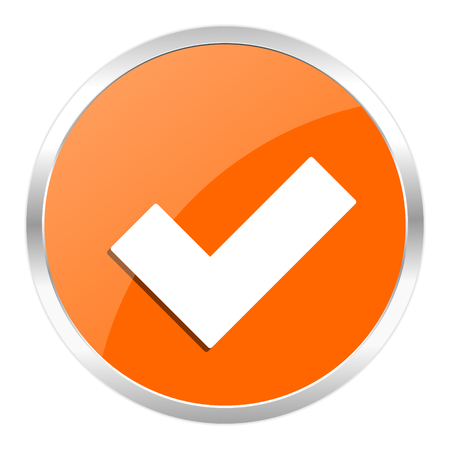 orange web button photo