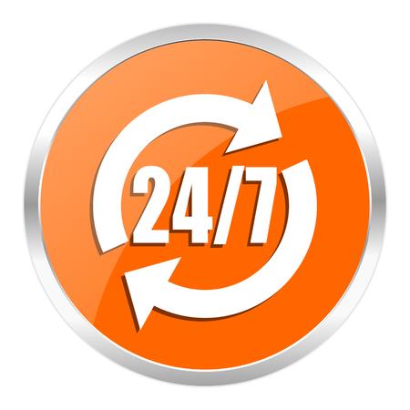 orange web button photo