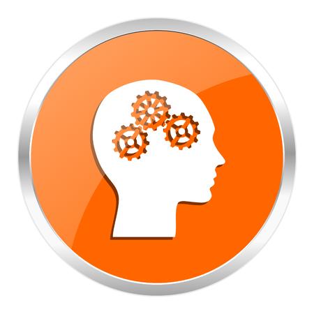 brainy: orange web button