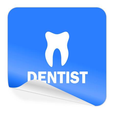 dentist blue sticker icon  photo