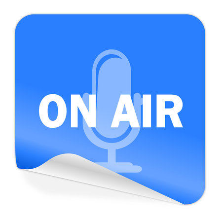 on air blue sticker icon  photo