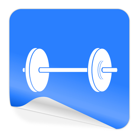 fitness blue sticker icon  photo