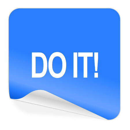 do it blue sticker icon  photo