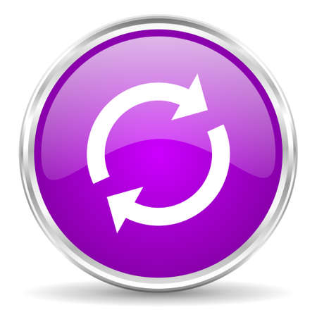 violet - silver circle web icon photo