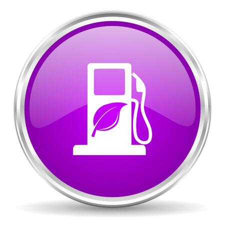 canola: violet - silver circle web icon Stock Photo