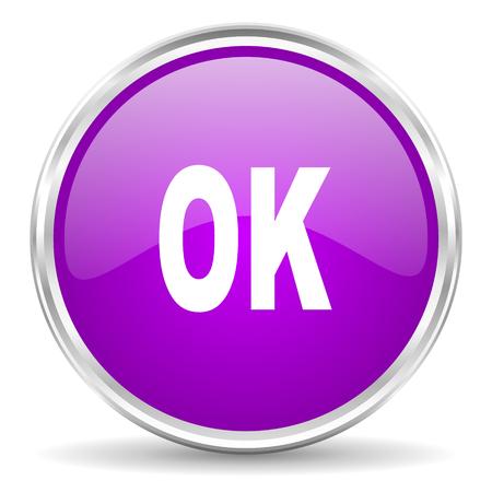 violet - silver circle web icon photo