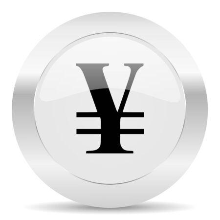 silver white web glossy icon photo