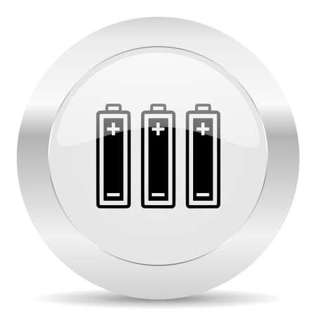 silver white web glossy icon Stock Photo - 28414942