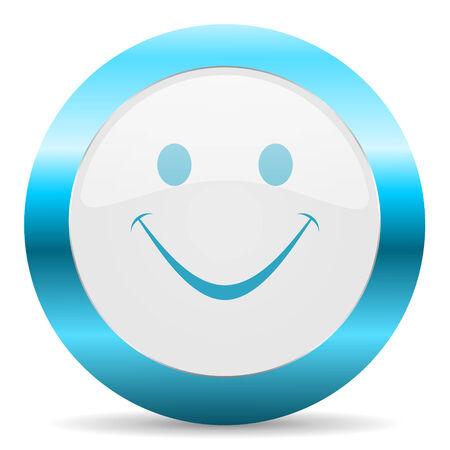 blue white circle web glossy icon photo