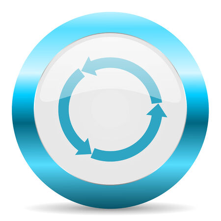 blue white circle web glossy icon photo