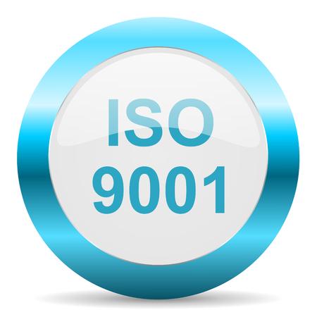 din: blue white circle web glossy icon