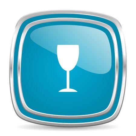 champain: blue web icon