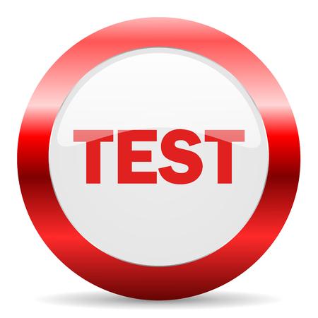 test probe: red white web icon Stock Photo
