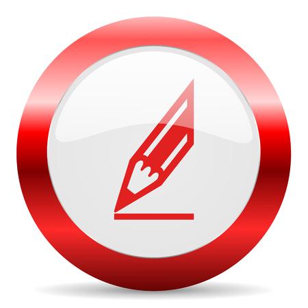 celcius: red white web icon Stock Photo