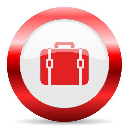 red white web icon photo