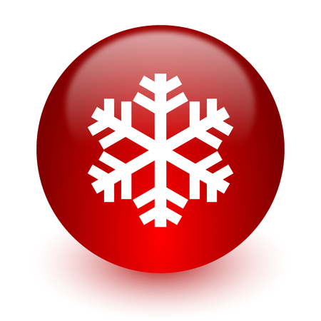 red computer icon on white background photo