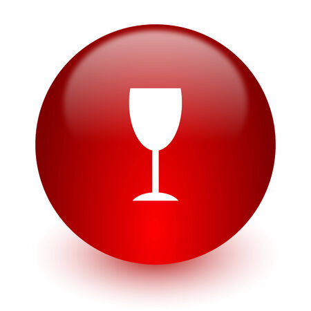 champain: red computer icon on white background