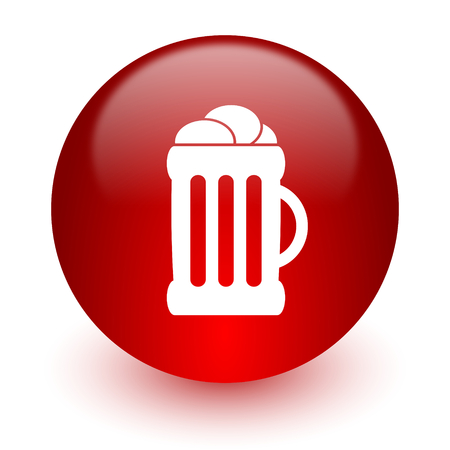 cereal bar: red computer icon on white background