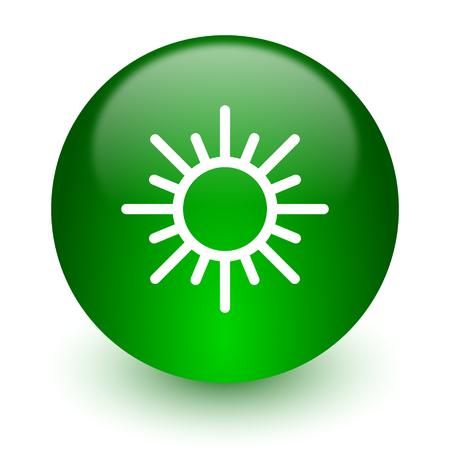 meteo: green glossy web icon