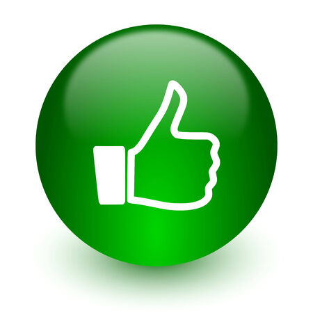 green glossy web icon photo