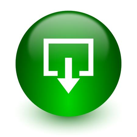 green glossy web icon photo