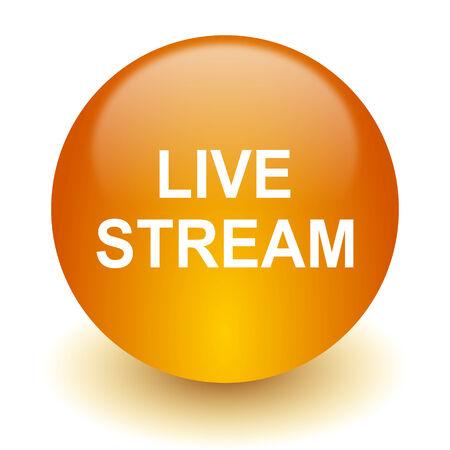 live stream tv: web icon Stock Photo