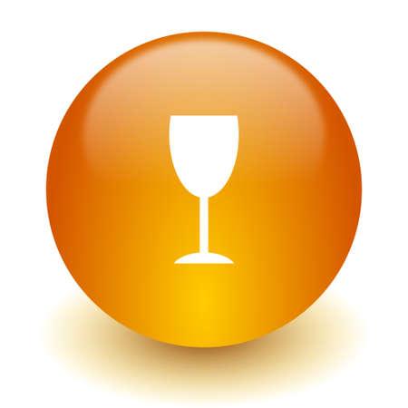 champain: web icon Stock Photo