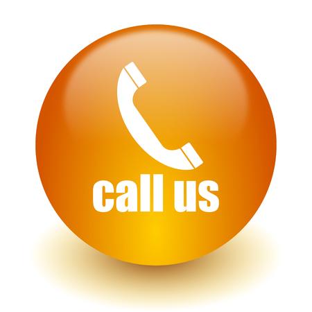call us: web icon Stock Photo