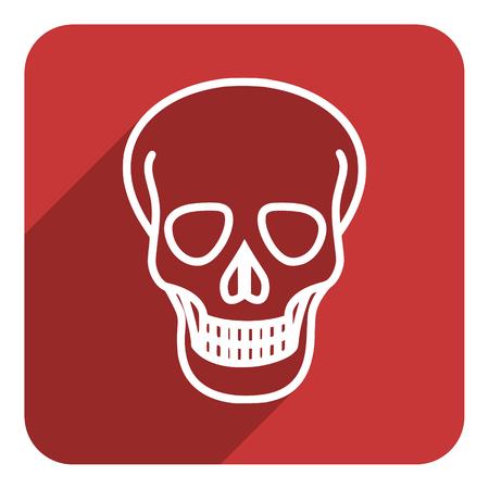 skull flat icon photo