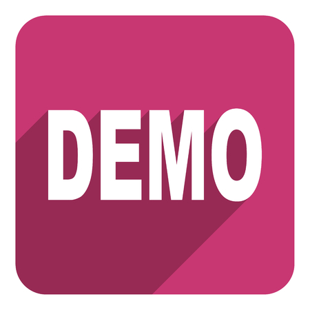 demo flat icon photo