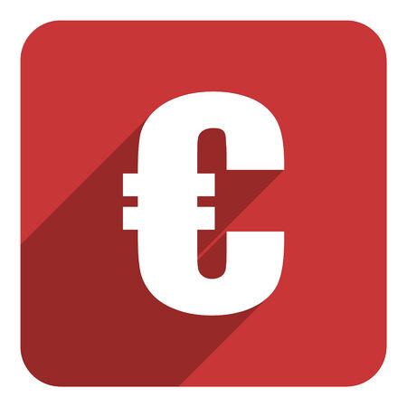 euro flat icon photo