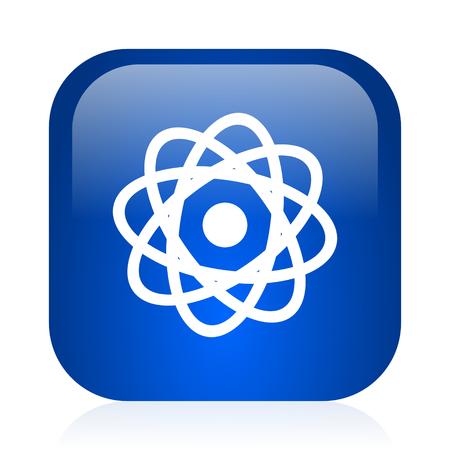 blue glossy computer icon photo