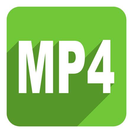 mp4: mp4 flat icon Stock Photo