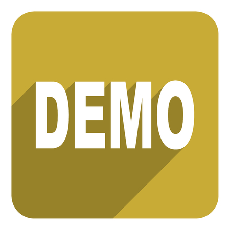 demo: demo flat icon Stock Photo