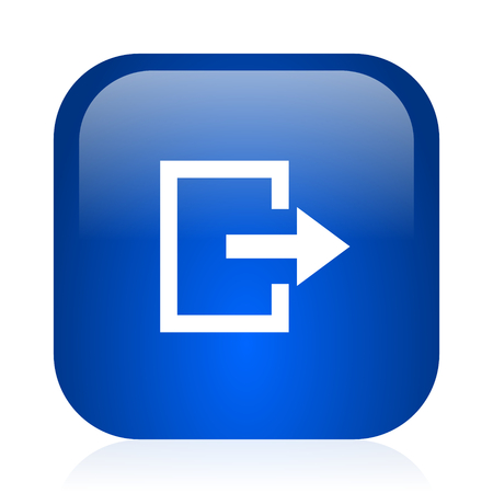 blue glossy computer icon photo