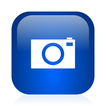 picto: blue glossy computer icon