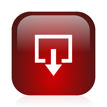 square red glossy icon photo