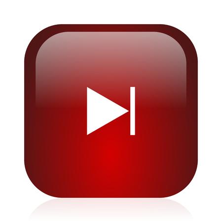 icon glossy: quadrato rosso glossy icon