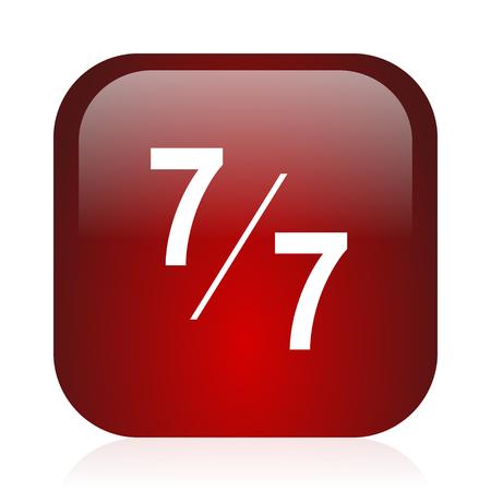 icon glossy: piazza icona rossa lucida