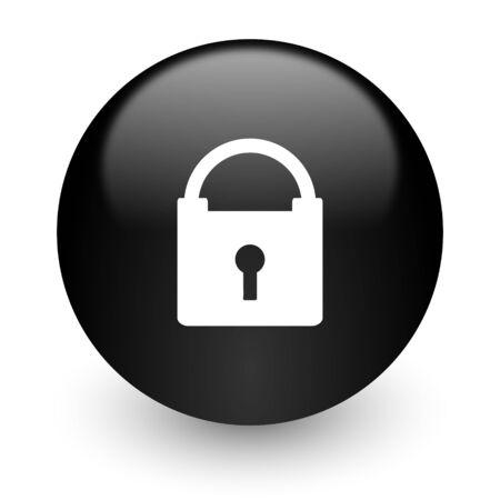black glossy computer icon photo