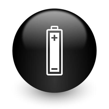 accuse: black glossy computer icon